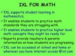 ixl for math
