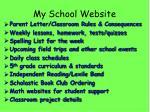 my school website