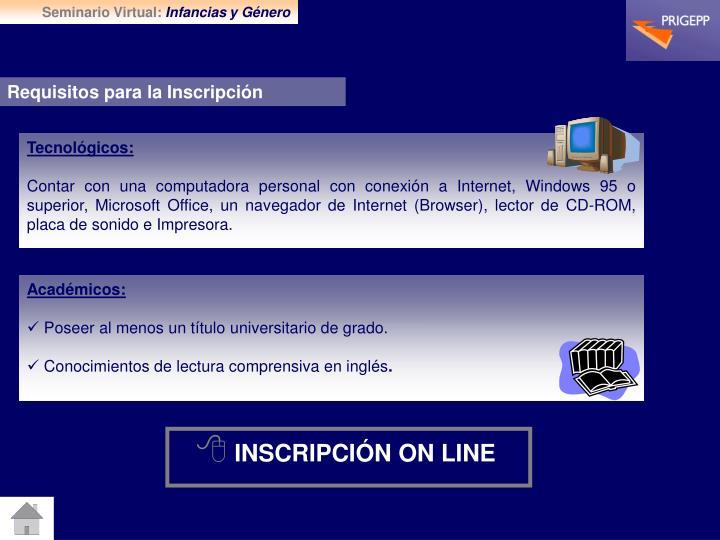 Seminario Virtual: