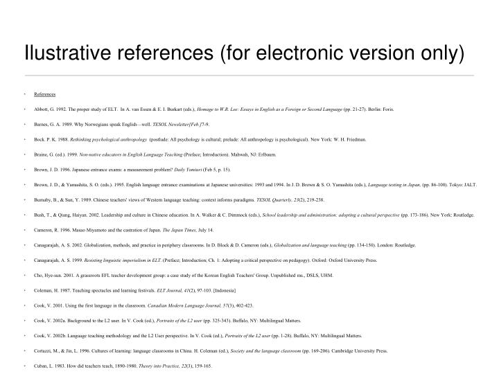 Ilustrative references (for electronic version only)