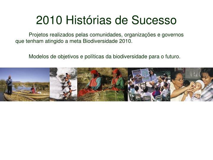 2010 Histórias de Sucesso