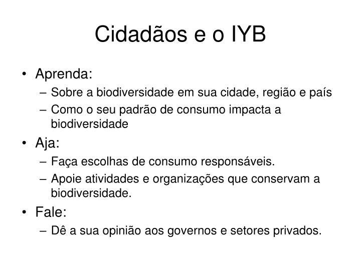 Cidadãos e o IYB