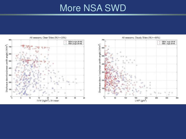 More NSA SWD