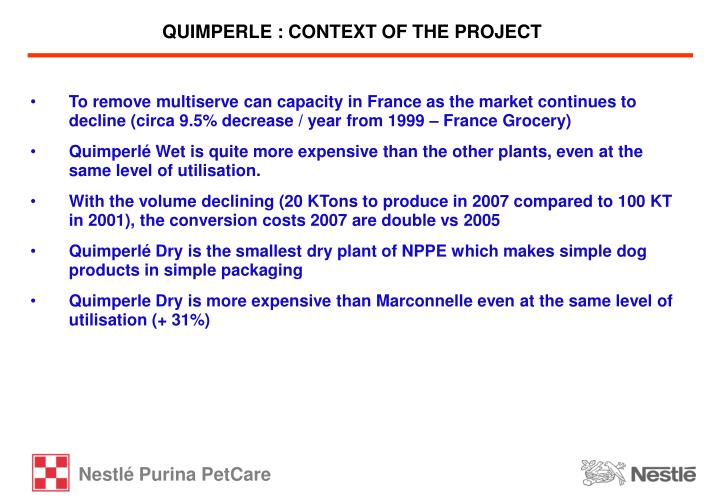 Quimperle context of the project