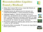 biocombustibles l quidos etanol y biodiesel