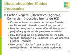 biocombustibles s lidos procesados