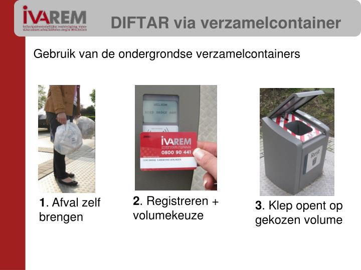 DIFTAR via verzamelcontainer