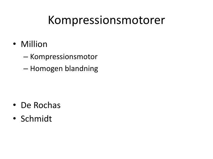 Kompressionsmotorer