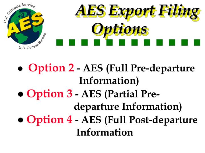 AES Export Filing