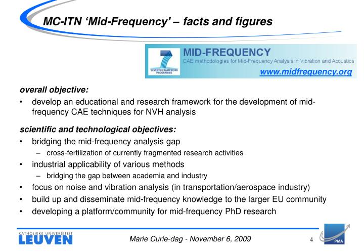 MC-ITN 'Mid-Frequency' – facts and figures