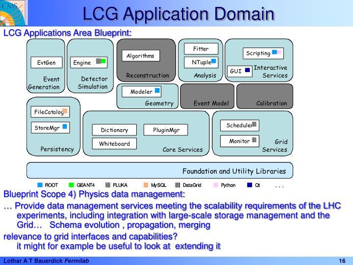 LCG Application Domain