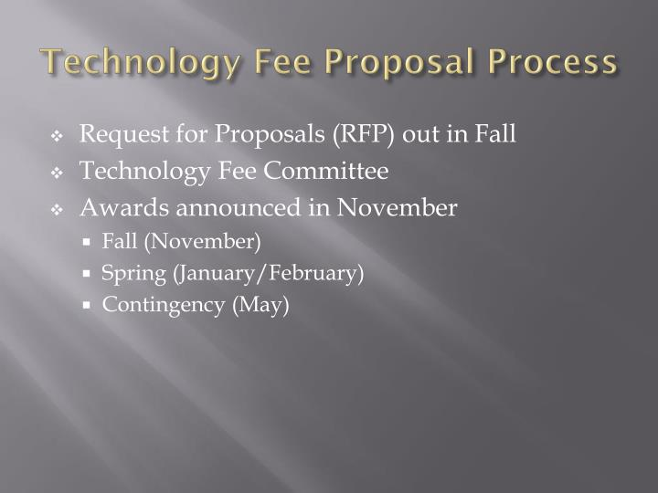 Technology fee proposal process