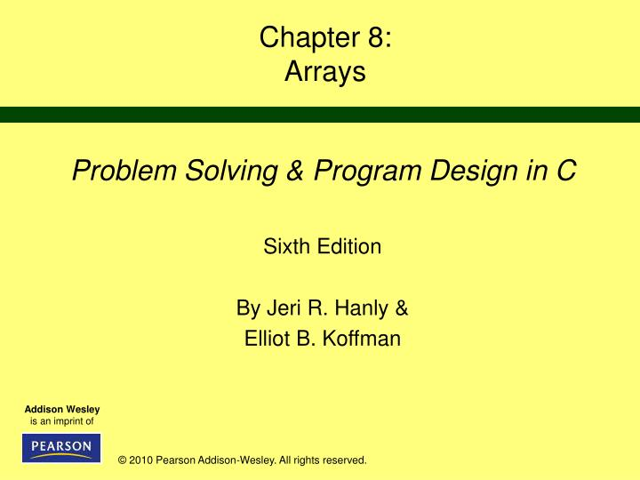 Chapter 8 arrays