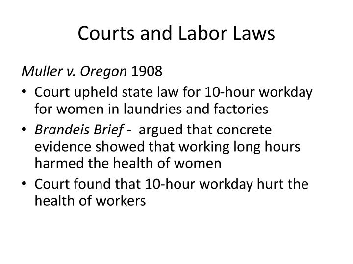 Courts and Labor Laws