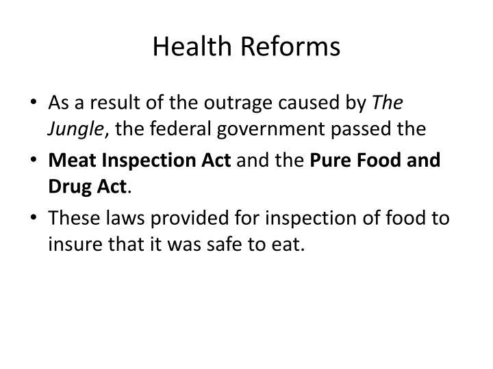 Health Reforms