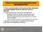public participation communications recommendations