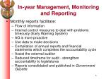 in year management monitoring and reporting1