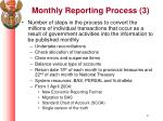monthly reporting process 3