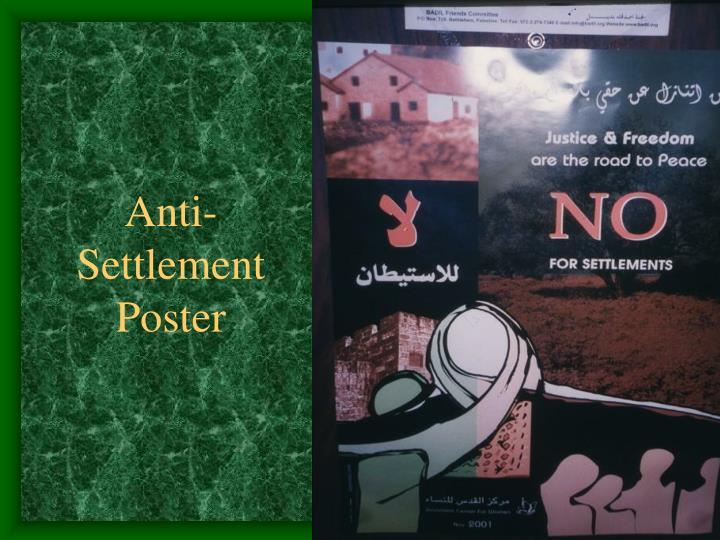 Anti-Settlement