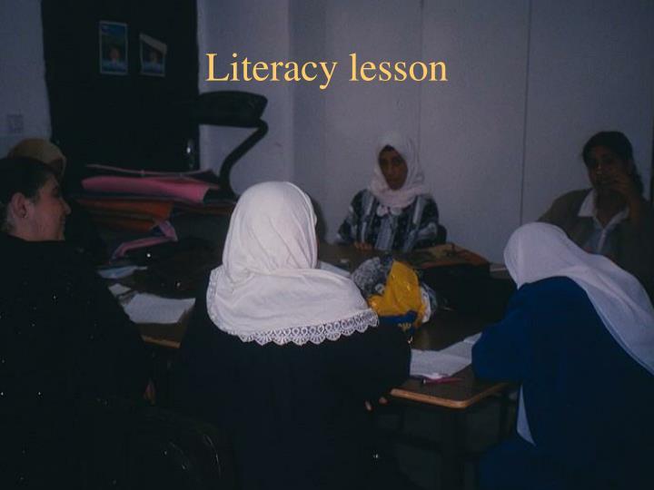 Literacy lesson