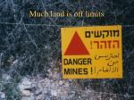 much land is off limits