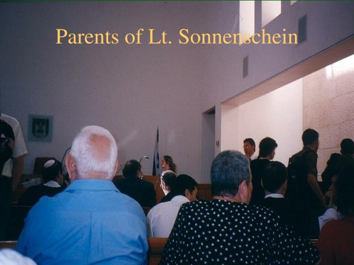 Parents of Lt. Sonnenschein