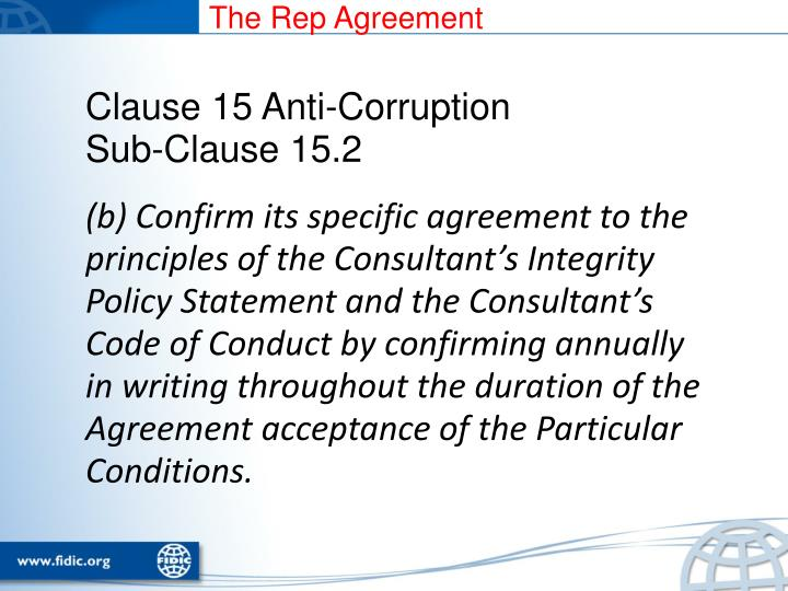 The Rep Agreement