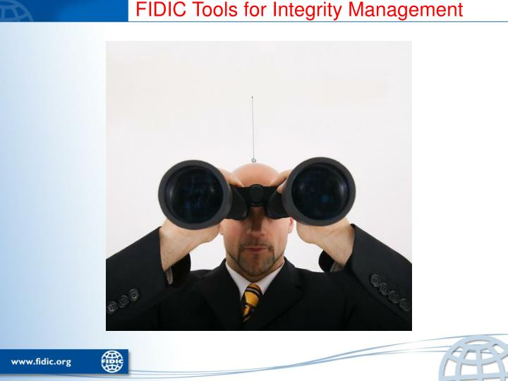 FIDIC Tools for Integrity Management