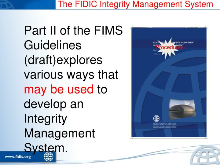The FIDIC Integrity Management System