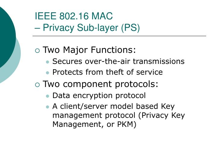 IEEE 802.16 MAC