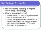 3 federal excise tax