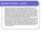 borders online cont d1