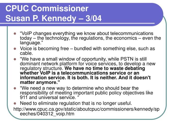 CPUC Commissioner