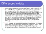 differences in data