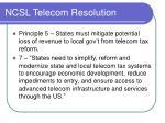 ncsl telecom resolution