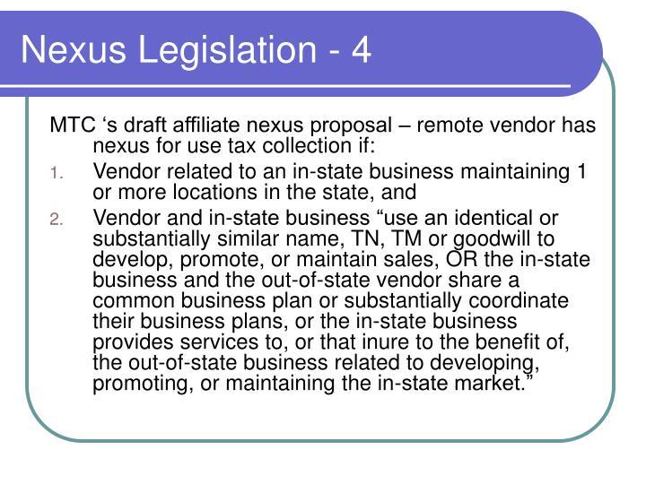 Nexus Legislation - 4