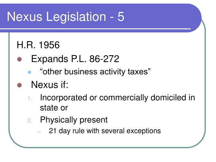 Nexus Legislation - 5