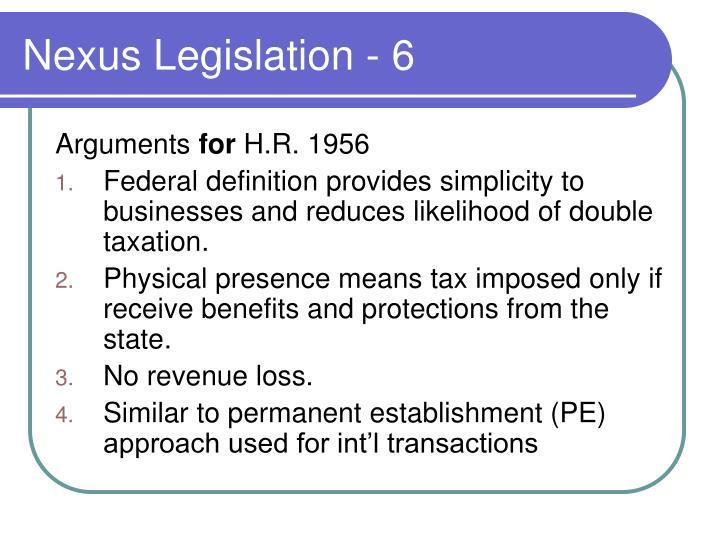 Nexus Legislation - 6