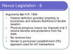 nexus legislation 6