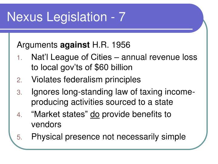 Nexus Legislation - 7