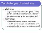 tax challenges of e business3