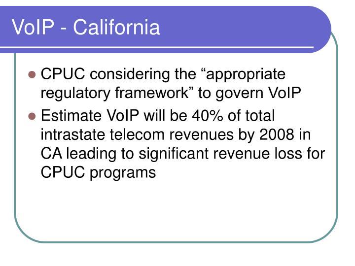 VoIP - California