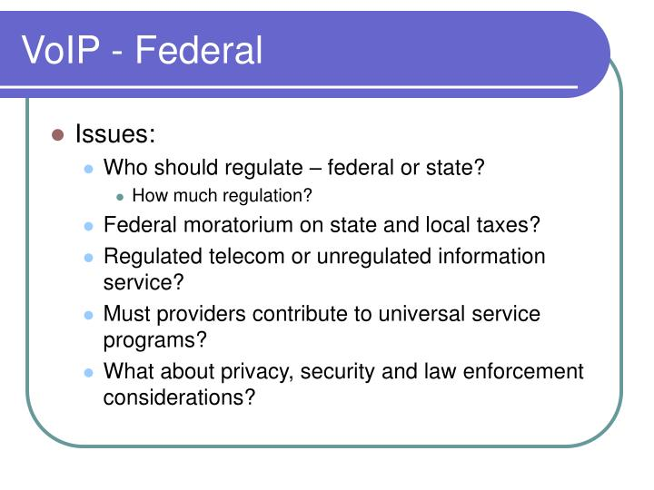 VoIP - Federal