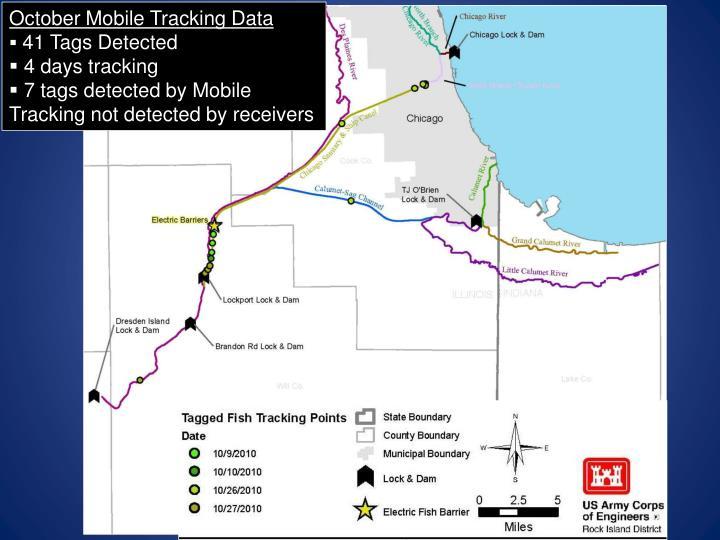 October Mobile Tracking Data
