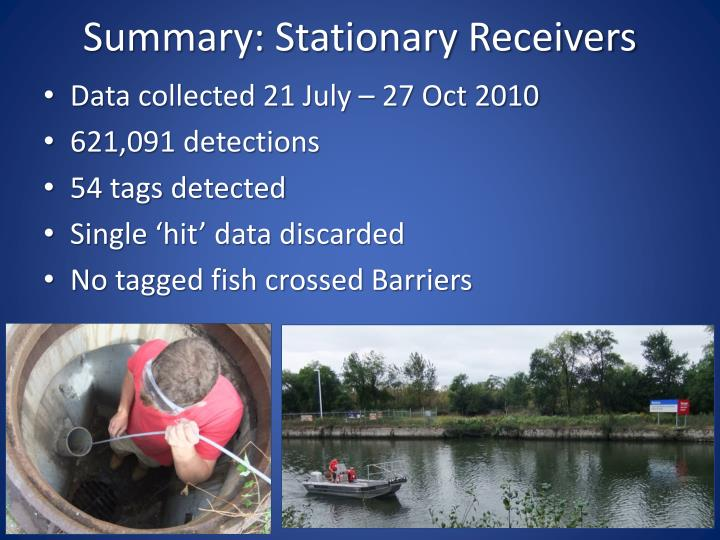 Summary: Stationary Receivers
