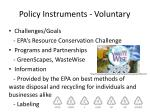 policy instruments voluntary