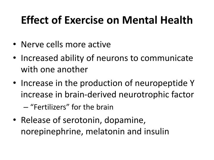 Effect of Exercise on Mental Health