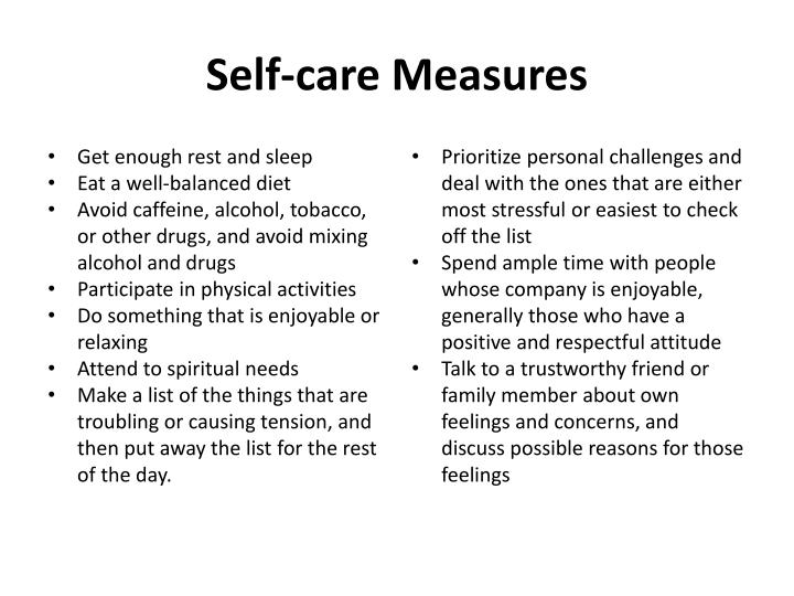 Self-care Measures