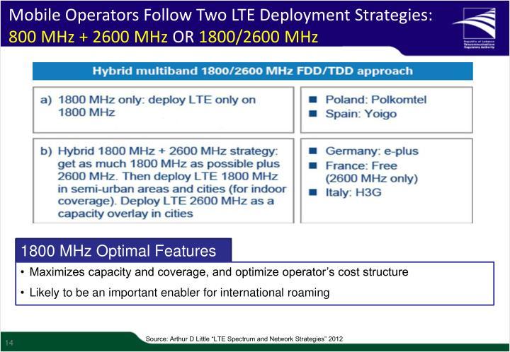 Mobile Operators Follow Two LTE Deployment Strategies: