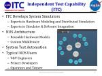 independent test capability itc